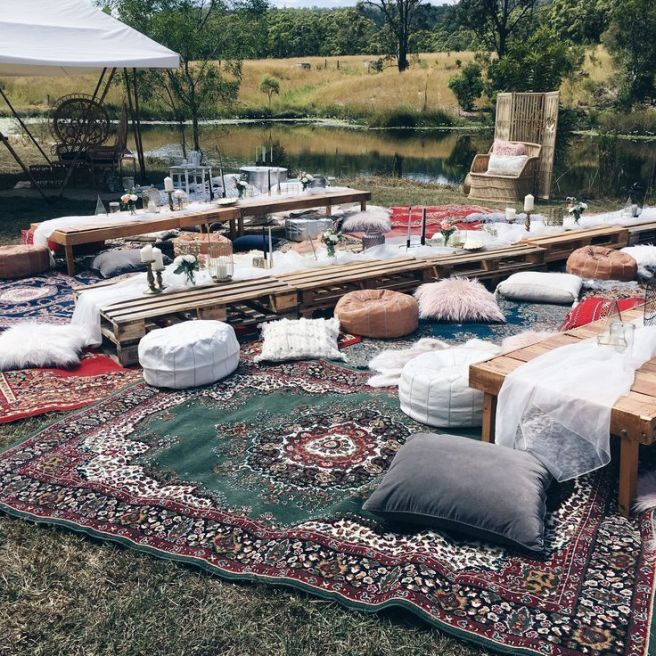 DIY Eclectic Gypsy Waterfall Wedding in Foster Falls USA