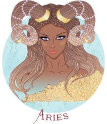 Zodiac_ Vector illustration of the astrological sign of Aries as a___